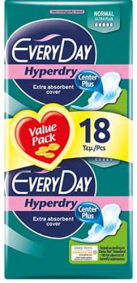 Σερβιέτες EVERYDAY Hyperdry ultra plus normal 18τμχ