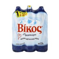 Φυσικό μεταλλικό νερό ΒΙΚΟΣ 6x1,5lt (5+1 δώρο)