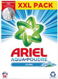 Σκόνη πλυντηρίου ARIEL Alpine 56μεζ.