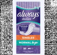 Σερβιετάκια ALWAYS to go singles normal 20τμχ