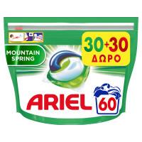 Κάψουλες ARIEL pods Allin1 mountain spring 60τμχ (30+30 δώρο)