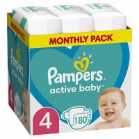 Πάνες PAMPERS Active Baby Monthly Pack Νο4 9-14kg 180τμχ