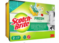 Σφουγγαράκι SCROTCH BRITE fresh πολύ δυνατό 75x115 2τμχ.