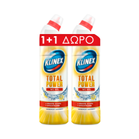 WC Gel KLINEX φρεσκάδα λεμονιού 2x750ml (1+1 δώρο)