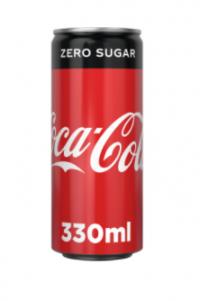 Αναψυκτικό COCA COLA zero κουτί 330ml