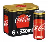 Αναψυκτικό COCA COLA Zero χωρίς καφεϊνη 6x330ml