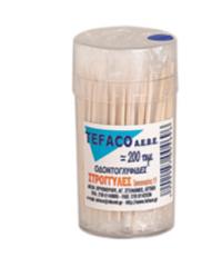 Οδοντογλυφίδες TEFACO συσκευασμένες 1/1 200τεμ
