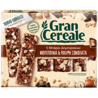 Μπάρες δημητριακών GRAN CEREALE φουντούκι & μαύρη σοκολάτα 5x27gr