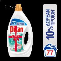 Υγρό Πλυντηρίου DIXAN Ρούχων Clean & Hygiene 77sc (70+7sc δώρο)