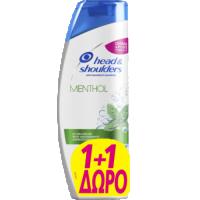 Σαμπουάν HEAD n SHOULDERS menthol 2x360ml (1+1 δώρο)