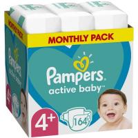 Πάνες PAMPERS Active Baby Monthly Pack Νο4+ 10-15kg 164τμχ